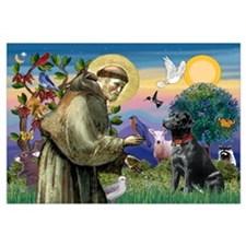 Saint Francis & Black Lab