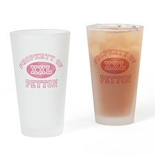 Property of Peyton Drinking Glass