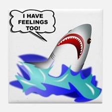 Shark Feelings Tile Coaster