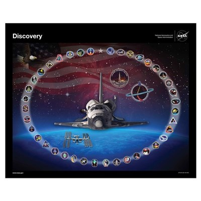 Discovery Space Shuttle Poster