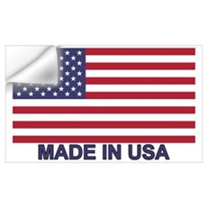 MADE IN USA (w/flag) Wall Decal