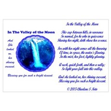 Poem Valley of the Moon Falls Framed Print