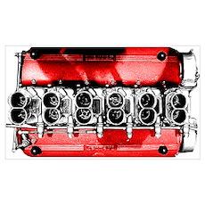 Testa Rossa Engine Poster