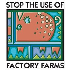 Stop the Use of Factory Farms Canvas Art