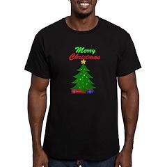 Merry Christmas Tree Men's Fitted T-Shirt (dark)