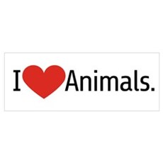 i Love Animals Framed Print