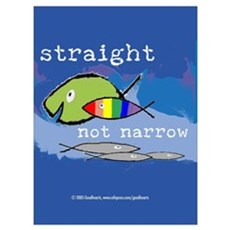 Straight But Not Narrow Framed Print