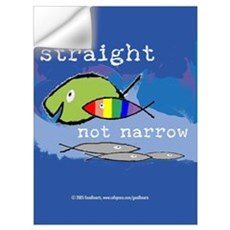 Straight But Not Narrow Wall Decal
