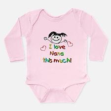 I Love Nana (Girl) Long Sleeve Infant Bodysuit