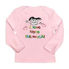 I Love Nana (Girl) Long Sleeve Infant T-Shirt