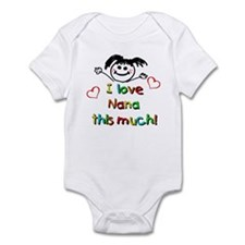 I Love Nana (Girl) Infant Bodysuit