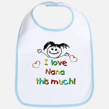 I Love Nana (Girl) Bib