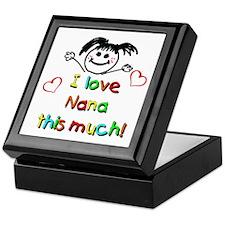 I Love Nana (Girl) Keepsake Box
