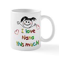 I Love Nana (Girl) Mug