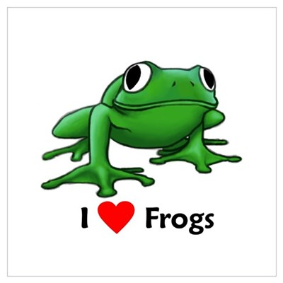 I love Frogs Canvas Art