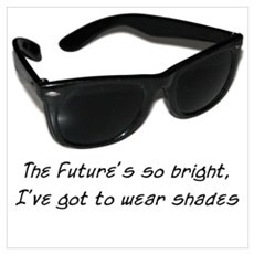 Sunglasses - bright future Canvas Art
