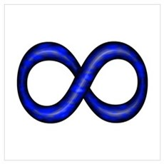 Royal Blue Infinity Symbol Framed Print