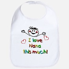 I Love Nana (Boy) Bib
