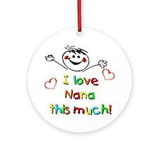 I Love Nana (Boy) Ornament (Round)