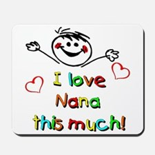 I Love Nana (Boy) Mousepad
