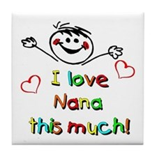 I Love Nana (Boy) Tile Coaster