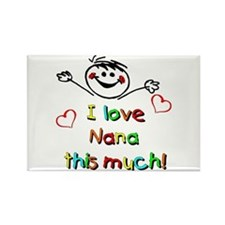 I Love Nana (Boy) Rectangle Magnet