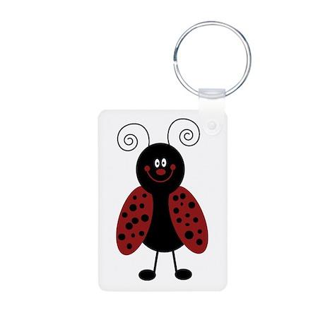 Love Bug Ladybug Aluminum Photo Keychain