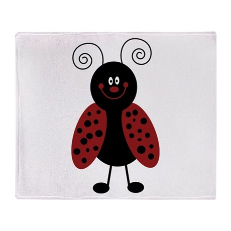 Love Bug Ladybug Throw Blanket