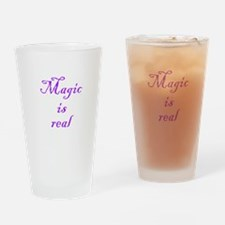 Magic is Real Drinking Glass