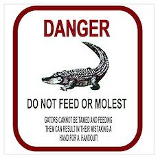 Gator Danger Poster