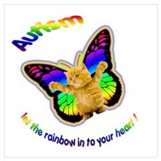 Autism let the rainbow in to Poster