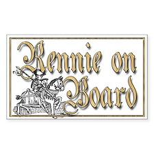 Rennie on Board Decal