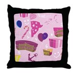 Pink Birthday Throw Pillow