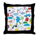 Kids World Throw Pillow