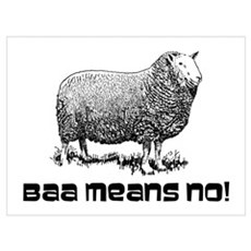 BAA means NO! Poster