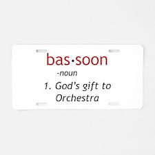 Bassoon Ninja Aluminum License Plate
