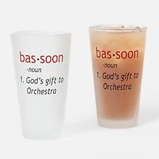 Bassoon Ninja Drinking Glass