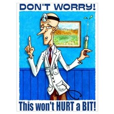 Doctor says DON'T WORRY Framed Print