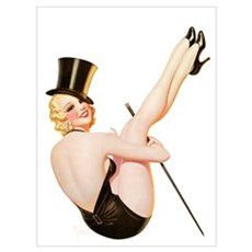Top Hat Girl Poster
