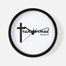 Transformed - Romans 12:2 Wall Clock