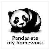 Funny panda Posters