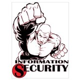 Information security Wrapped Canvas Art