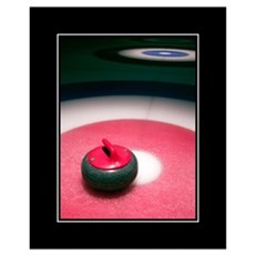 Curling Stone 16x20 Framed Print