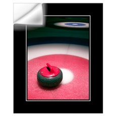 Curling Stone 16x20 Wall Decal