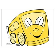 YELLOW HAPPY BUS Poster