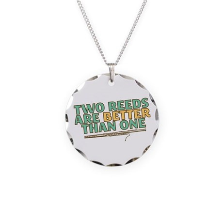 Two Reeds Necklace Circle Charm