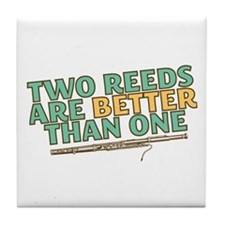 Two Reeds Tile Coaster