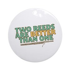 Two Reeds Ornament (Round)