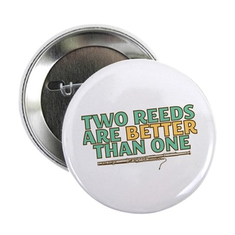 """Two Reeds 2.25"""" Button (10 pack)"""