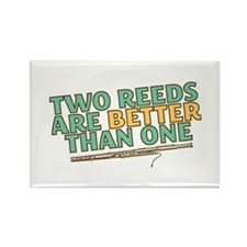 Two Reeds Rectangle Magnet